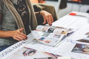 magazine, table, desk