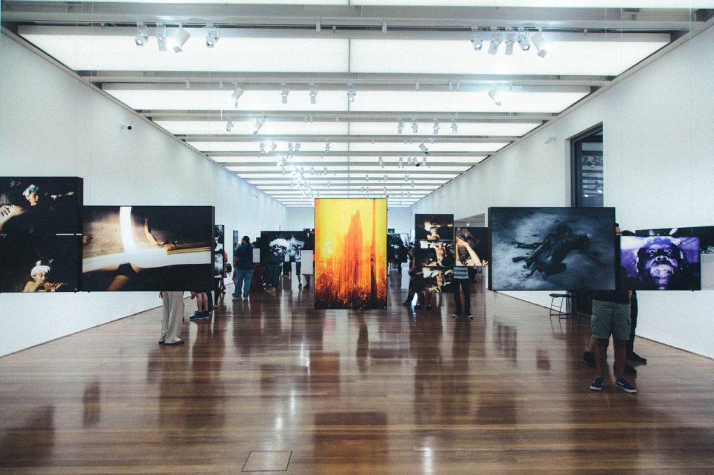 gallery, museum, display
